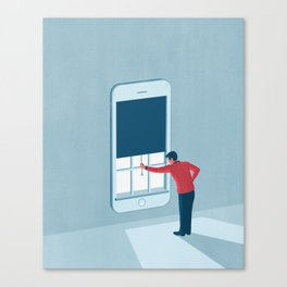 Blocking Unwanted Calls Canvas Print