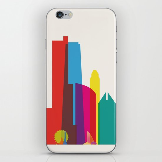 Shapes of Chicago. Accurate to scale iPhone & iPod Skin