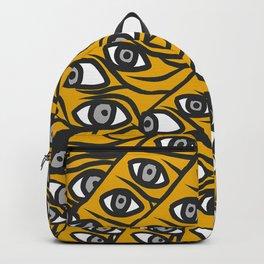 Freddie Eyeballs Golden Yellow Backpack