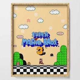 Super Mario Bros. 3 Title Screen Serving Tray