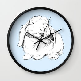 My Friend Paopao Bunny Illustration Wall Clock