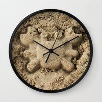 crab Wall Clocks featuring crab by Кaterina Кalinich
