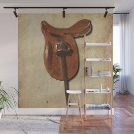 Vintage horse saddle Wall Mural