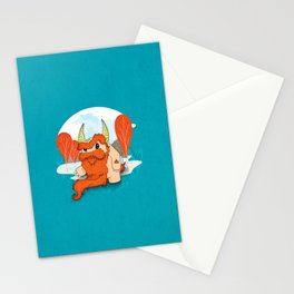 Graggy, the plump Happy Chaos Monster of Scotland Stationery Cards