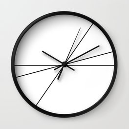 Abstract Black Lines Wall Clock