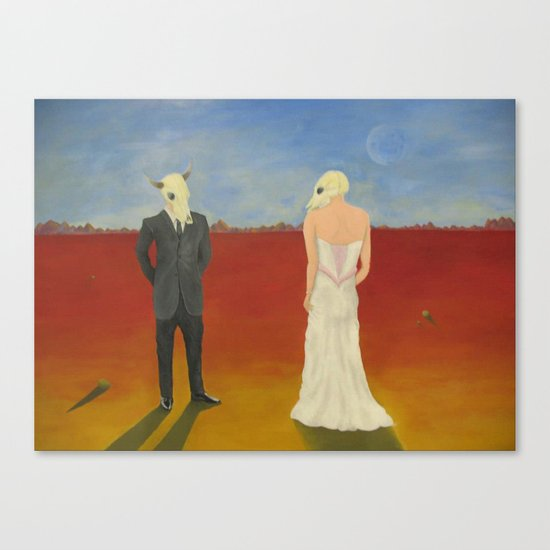 The Odd Wedding Canvas Print