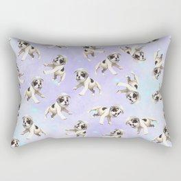 Pastel Space Pups Rectangular Pillow