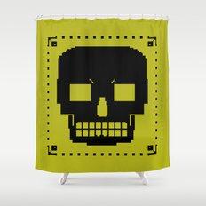 grrr skull. Shower Curtain