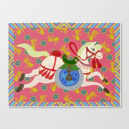 Colourful Animal Horse Decoration Patterns Canvas Print