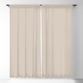 Light Taupe Solid Color Pairs with Sherwin Williams Alive 2020 Forecast Color - Touch of Sand SW9085 Blackout Curtain