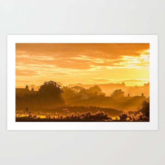 Golden Haze Art Print