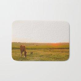 Summer Landscape with Horse Bath Mat