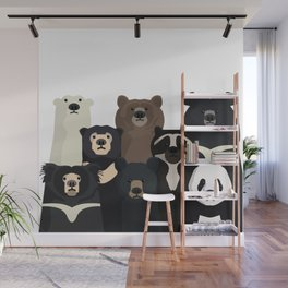 Bear family portrait Wall Mural