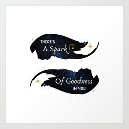 A Spark Of Goodness — Good Omens Fanart Art Print