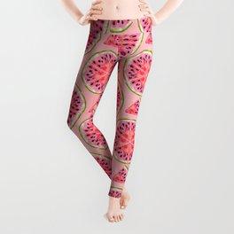 pink watermelon pattern Leggings