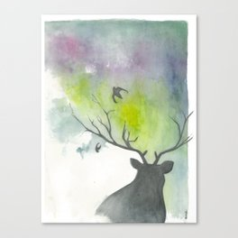 another deer painting Canvas Print