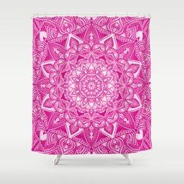 Pink Madala Pattern Shower Curtain
