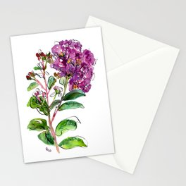 Crape Myrtle Purple Floral Stationery Cards