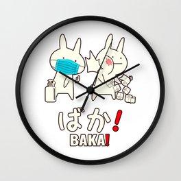 Baka Anime Shirt, Baka Gift, Japanese Baka Rabbit Slap Classic T-Shirt Wall Clock