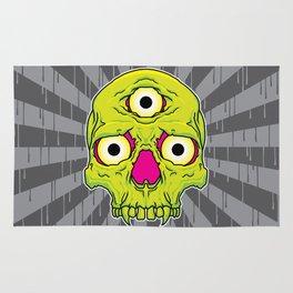 3 Eyed Jackass (green) Rug