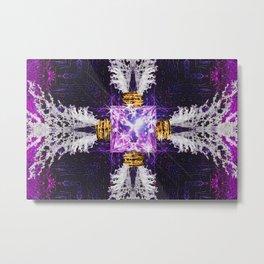 Embrace Purple Metal Print