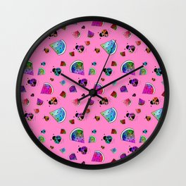 Signs Of Summer Wall Clock