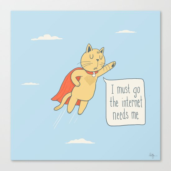 Internet Cat Canvas Print