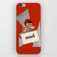 mad iPhone & iPod Skins featuring mad by Errin Ironside