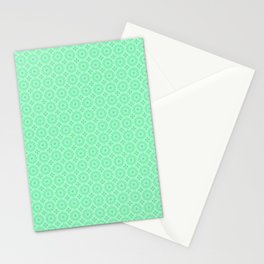 Mint Green Abstract IV Stationery Cards