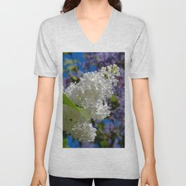 White Lilacs Unisex V-Neck
