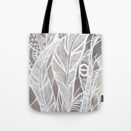 Earthy Feathers Tote Bag
