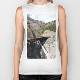 Bear Creek Falls in the Uncompahgre Gorge - Vertical Panorama No. 2 of 2 Biker Tank