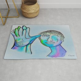 ASL Grandfather in Blue Overtones Rug