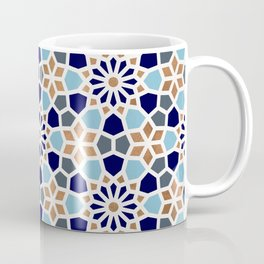 Persian Mosaic – Blue & Gold Palette Coffee Mug