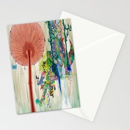 Mushroom tree Stationery Cards