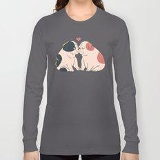 English Bulldog Kisses Long Sleeve T-shirt