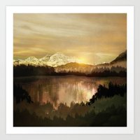 sunrise Art Prints featuring Sunrise by Viviana Gonzalez