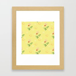 The flowers of the field. Framed Art Print