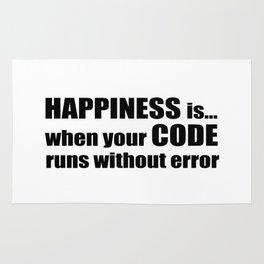 HAPPINESS is when your CODE... Rug