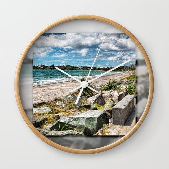 Beautiful Bay View Wall Clock