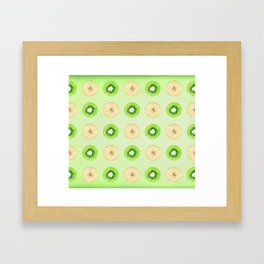 kiwi banana watercolor pattern Framed Art Print