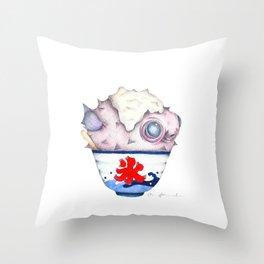 Fugu Snow Cone Throw Pillow