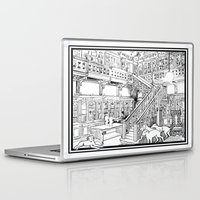 puppies Laptop & iPad Skins featuring Borzoi puppies by Agy Wilson