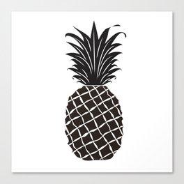 Black Pineapple Canvas Print