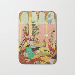 King Agib by Rudolf Koivu Bath Mat