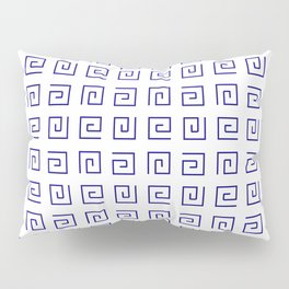 Antic pattern 21- roman or greek pattern - blue Pillow Sham
