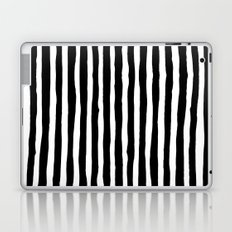 Black and White Vertical Stripes Laptop & iPad Skin
