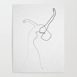 One line Dancer Poster