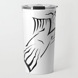 Wingsuit Flying - Extreme Sports Skydiving Travel Mug