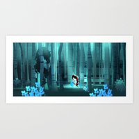 red ridding hood Art Print